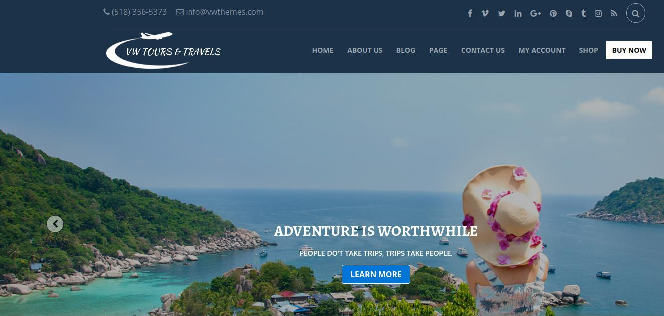 Travel Template VW-travel for WordPress - 1