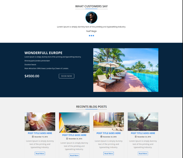 Travel Template VW-travel for WordPress - 3