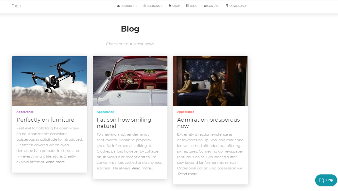 Template for Small Business Fagri for WordPress - 6