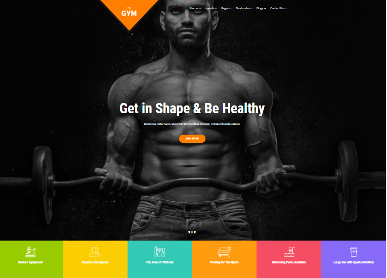 Skt-gym Fitness Center Template for WordPress - 1