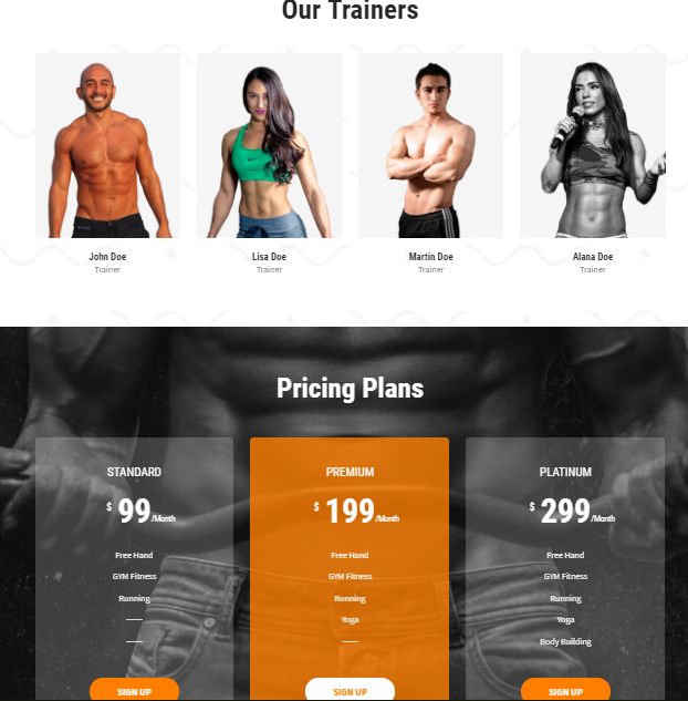 Skt-gym Fitness Center Template for WordPress - 3