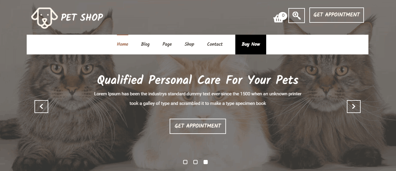 Veterinary Pet Care Template for WordPress - 1