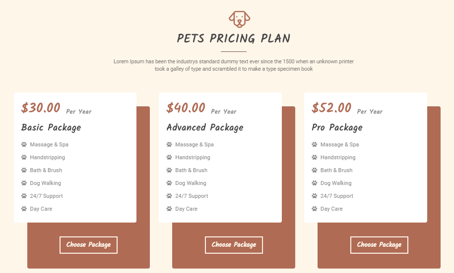 Veterinary Pet Care Template for WordPress - 5