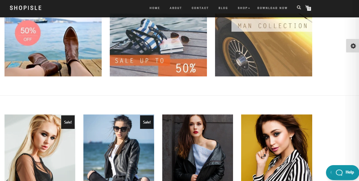 Minimalistic template of Shop Isle online store for WordPress - 2