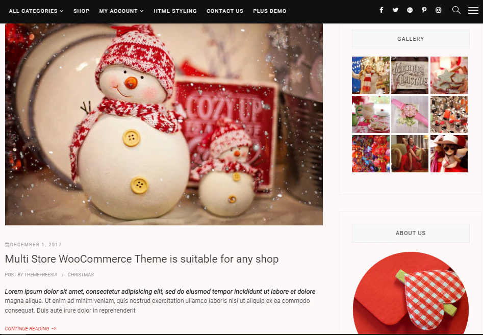 Christmas Template Store-Xmas online store for WordPress - 3