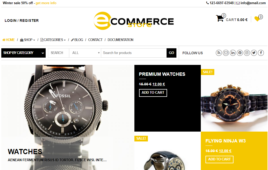 Universal template eCommerce Store for WordPress - 1