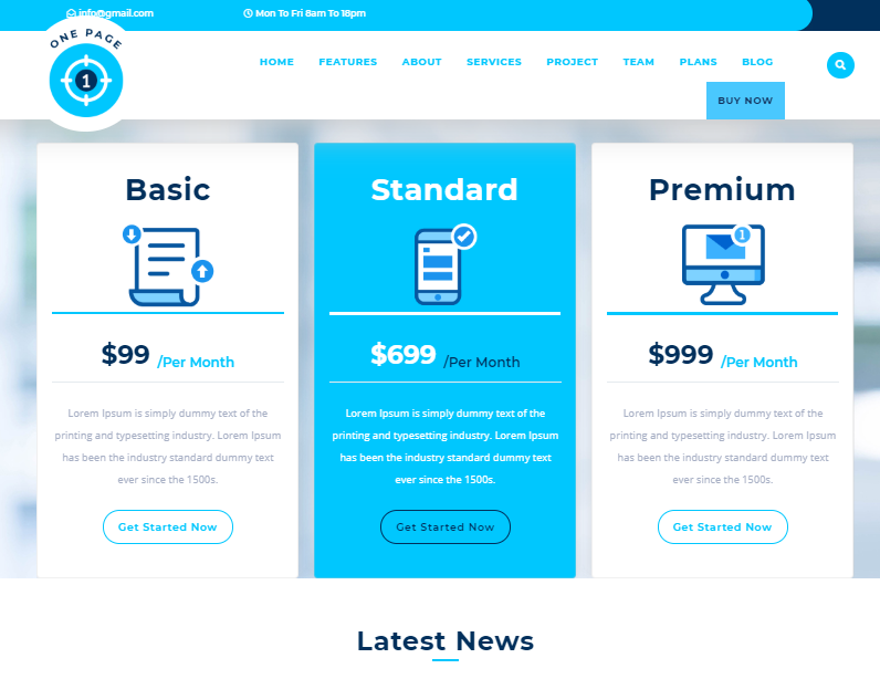 Safha One Page Landing Template for WordPress - 3
