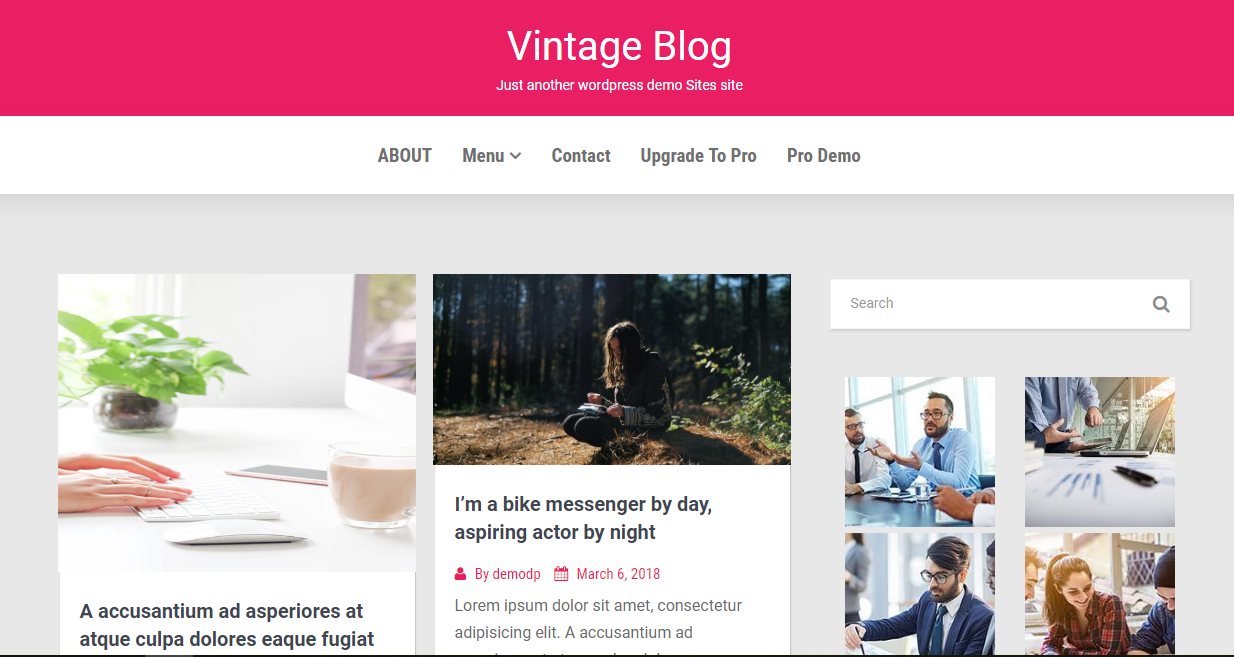 Free Vintage Blog WordPress Blog Template - 1