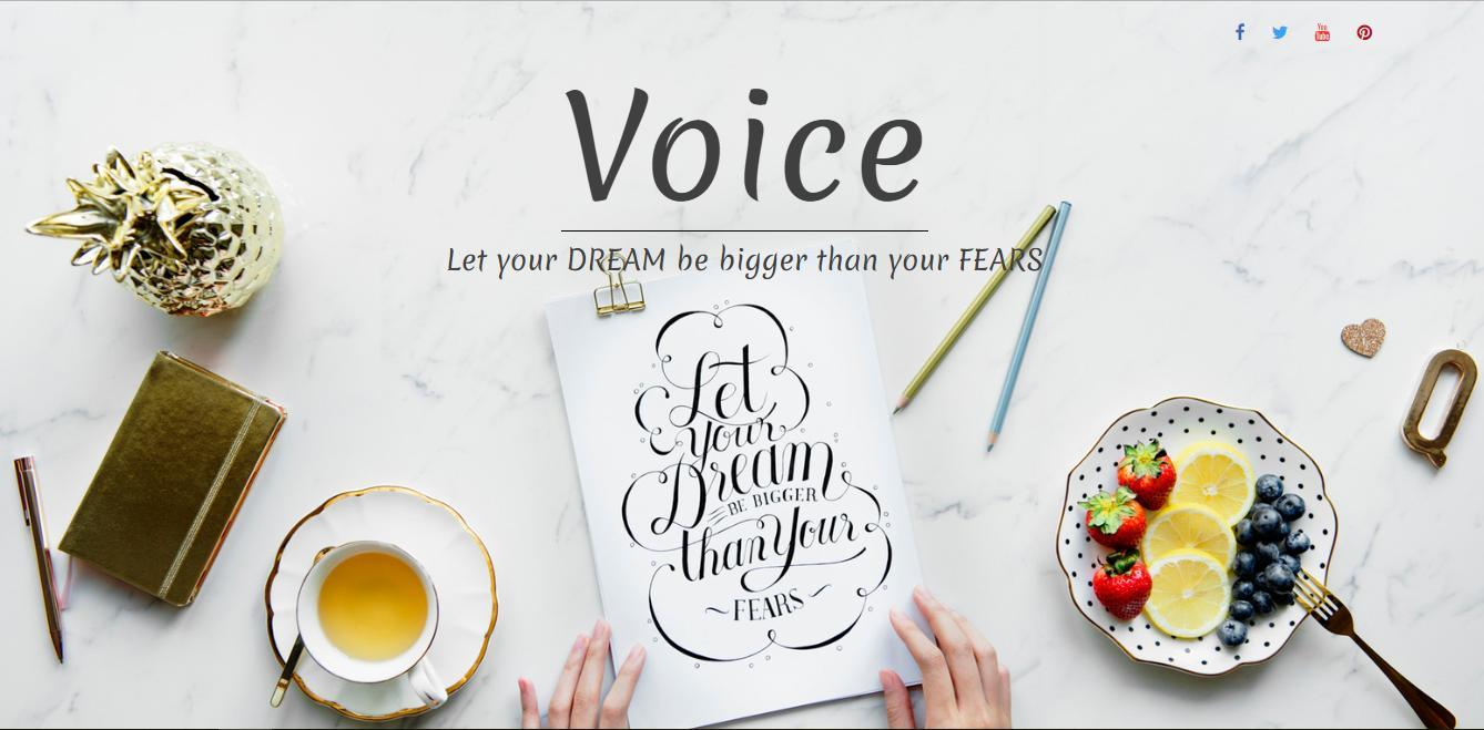 Free Unusual Voice Blog Blog Template for WordPress - 1