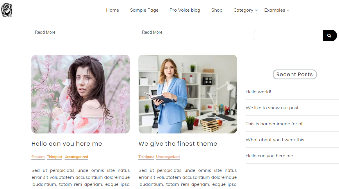 Free Unusual Voice Blog Blog Template for WordPress - 2
