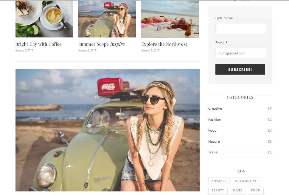 Free Ashe Women's Blog Template for WordPress - 3