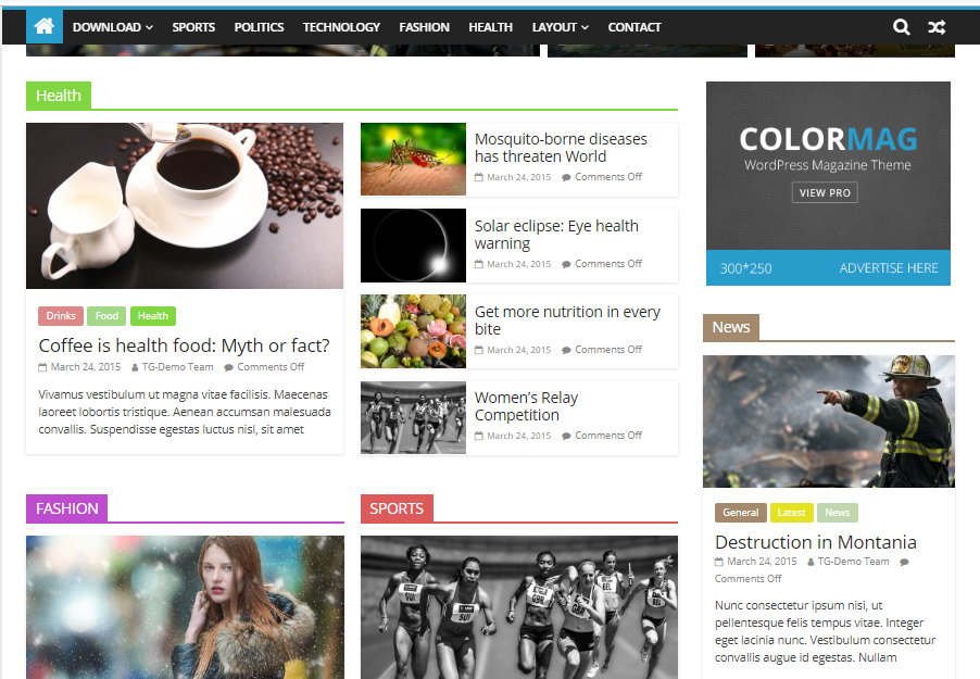 Free Colormag Media Template for WordPress - 2