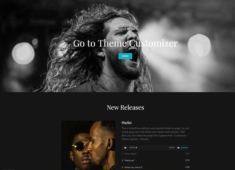 Free Rock band Music Website Template for WordPress - 1