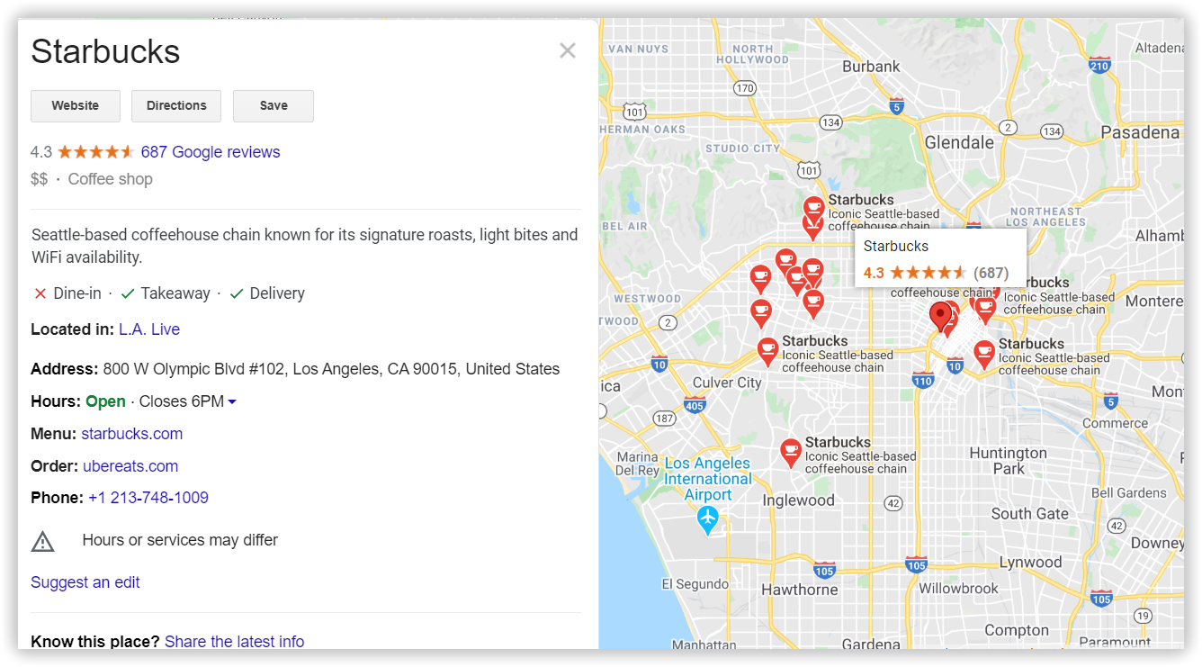 knowledge graph with a map