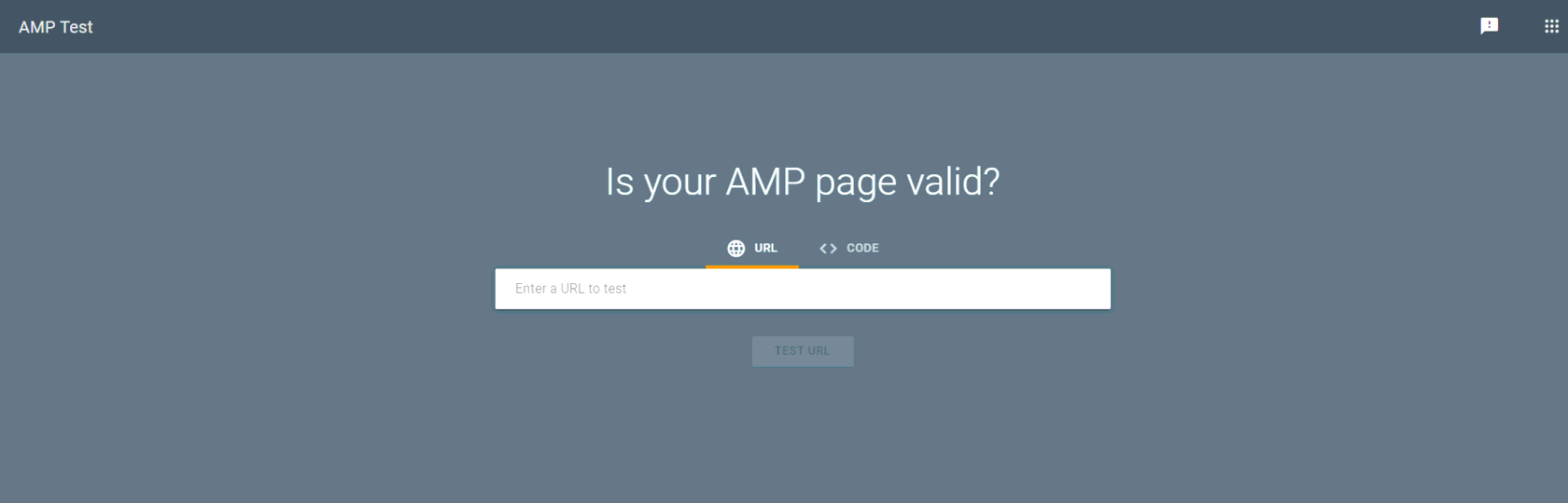 Checking AMP pages for errors
