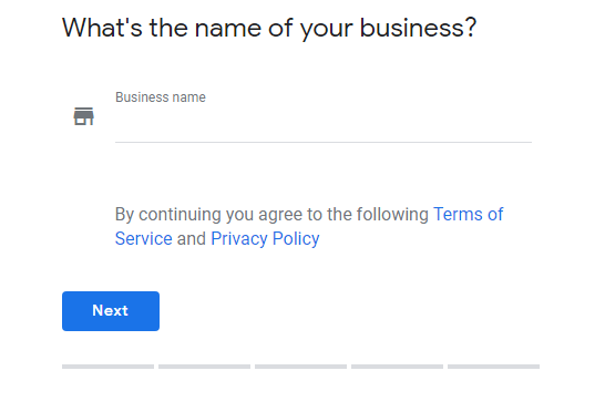 Company registration in Google My Business