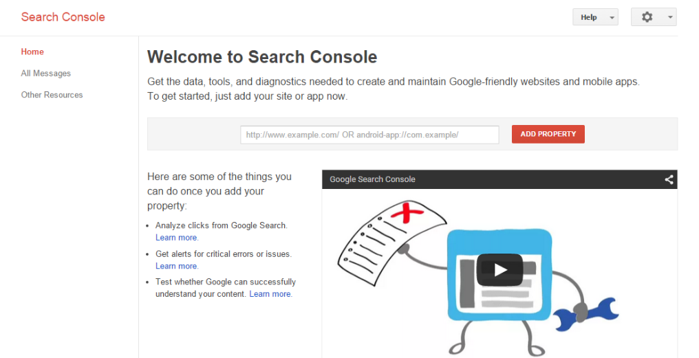 How to register your site in Google Search Console
