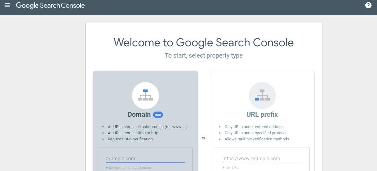 How to add the site to Google Search Console