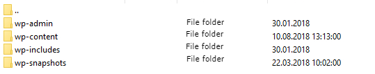 Root folder of the site
