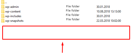 Root folder on the Wordpress