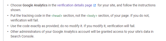 Google Analytics tracking id in the page code