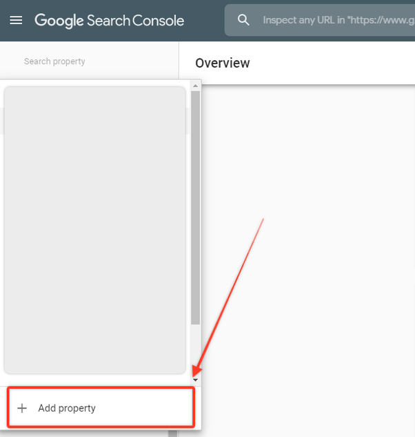Adding property to Google Search Console