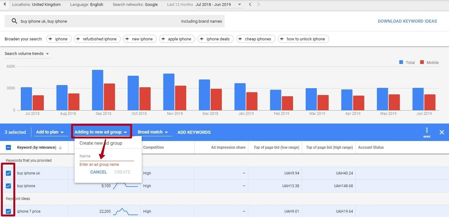 keyword quality analysis at google adwords