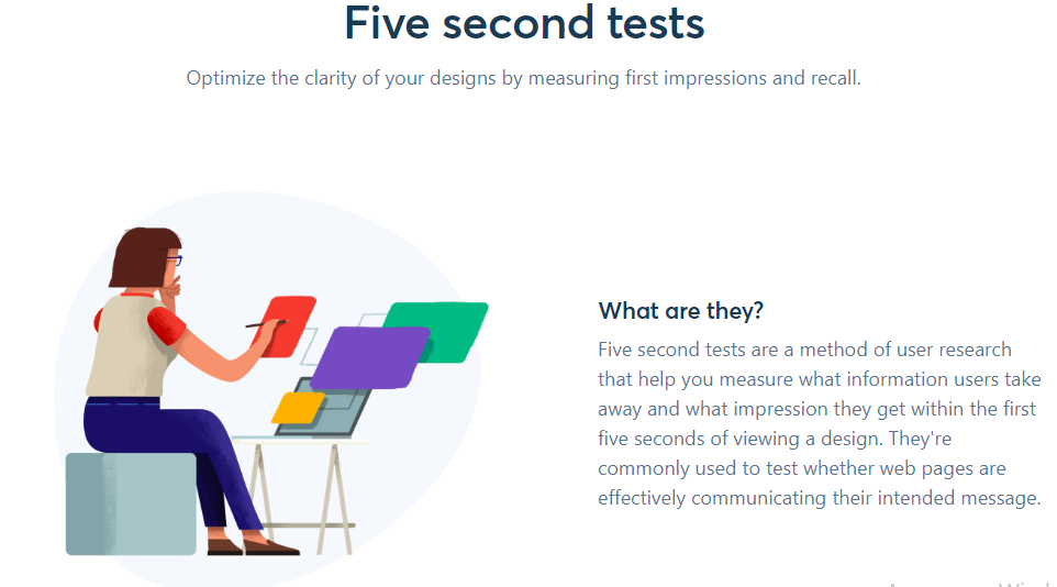 Five Second Test usability checking