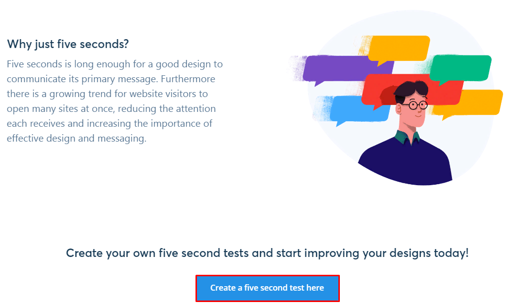 How to create a five second test of the website UX