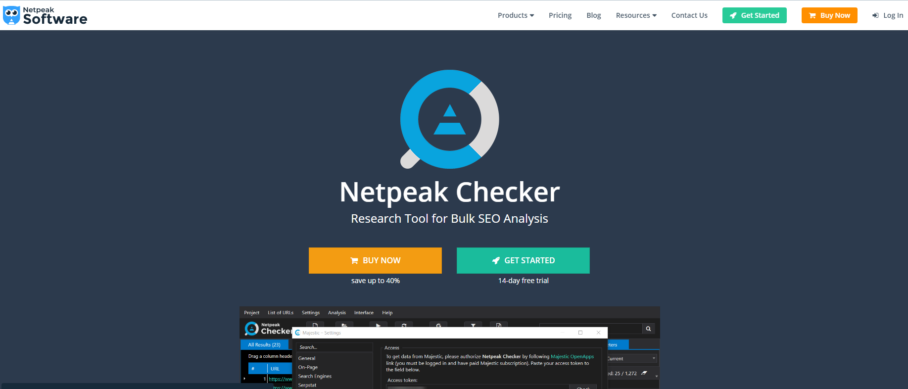 Indexation checking using Netpeak Checker