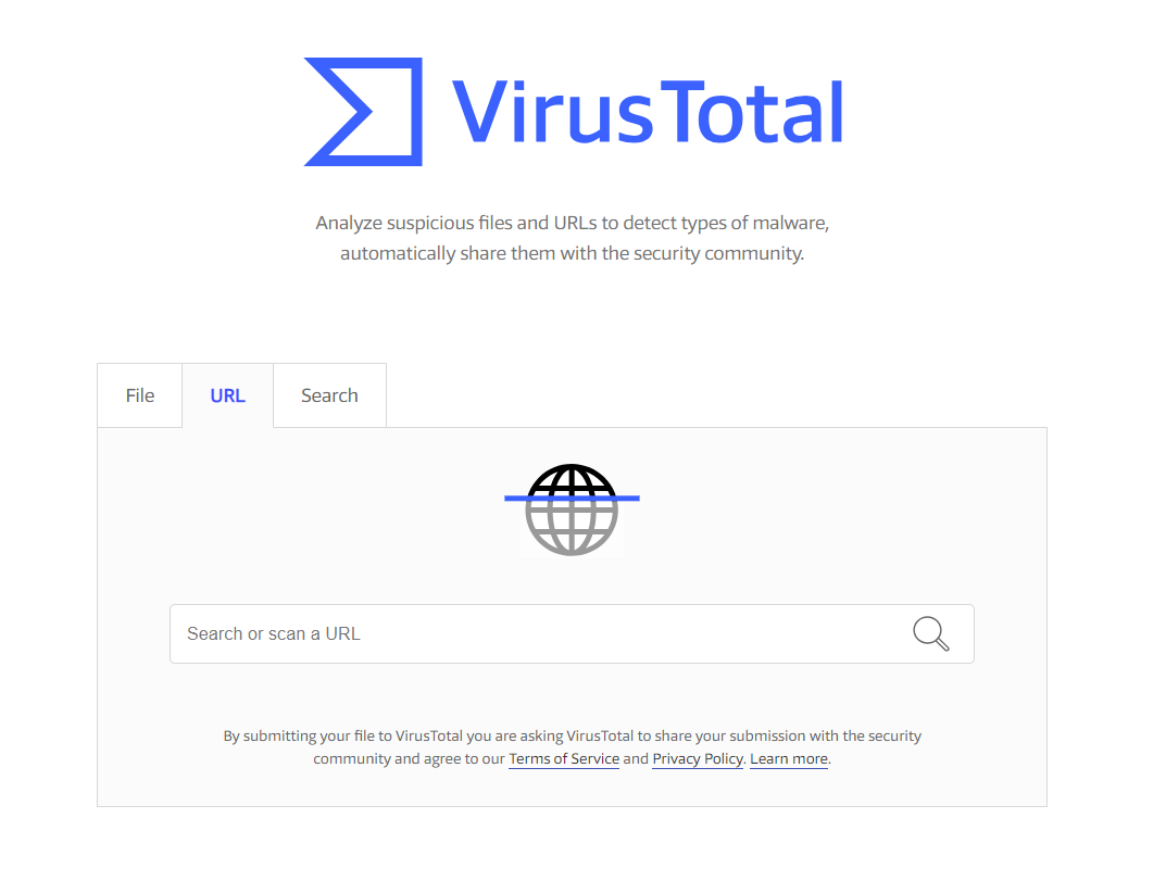 How to check a site for malware in VirusTotal