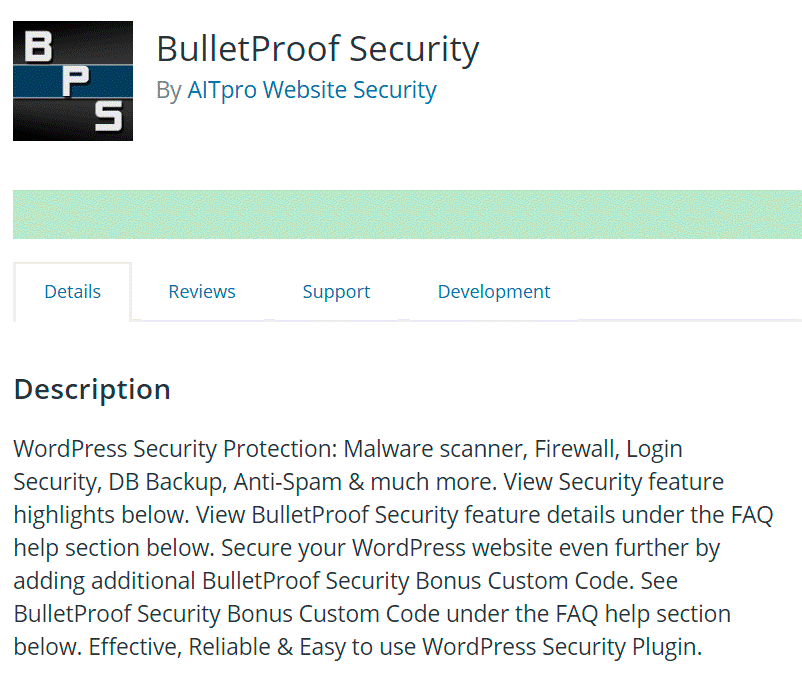 BulletProof Security Plugin for WordPress