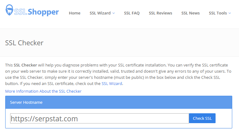Online SSL certificate verification and evaluation