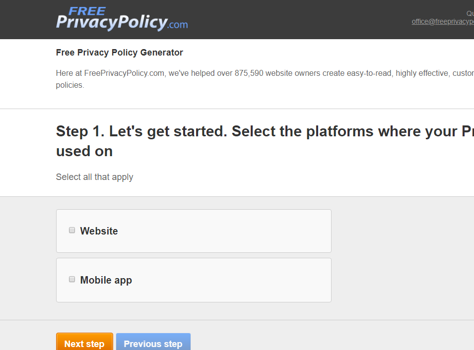privacy policy freeprivacypolicy.com