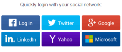 Quick login with social networks using Gigya