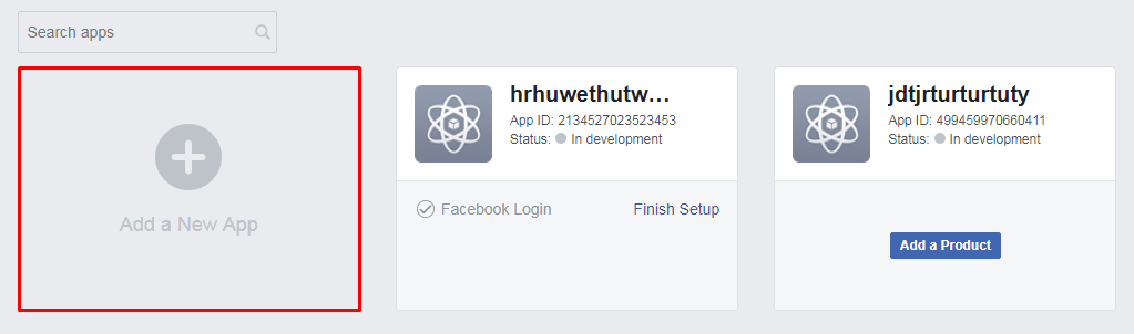Adding an application in Facebook for Developers
