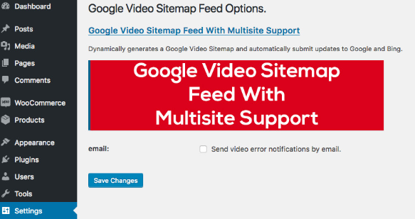 Google Video Sitemap Feed plugin for Wordpress