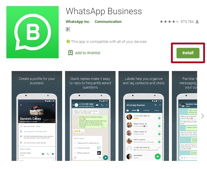 WhatsApp Business App on Google Play