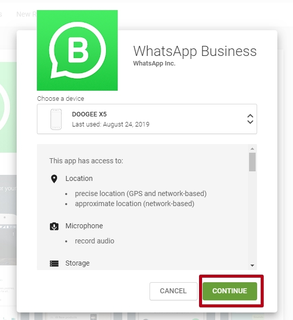 WhatsApp Business Terms of Service