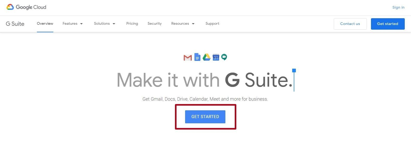 Gmail corporate email with its own domain