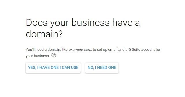 Company registration in G Suite