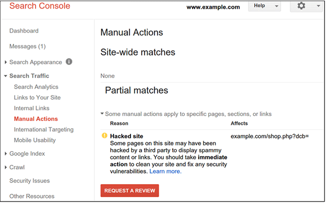 How to check manual penalties in Google web master tool and lift them