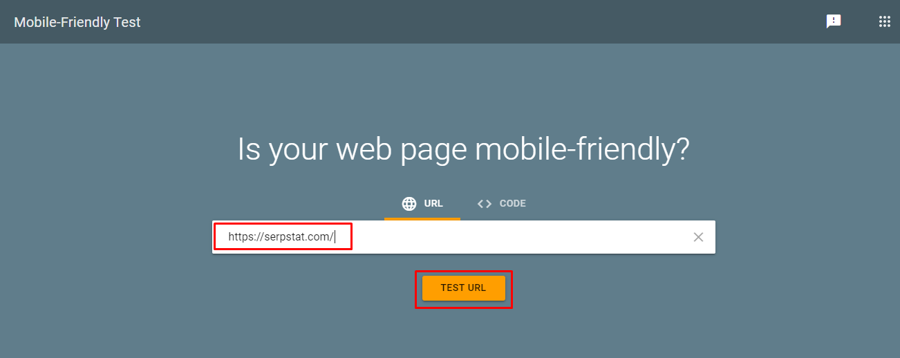 Checking page optimization for mobile devices Mobile Friendly Test