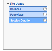 Objective for an experiment in Google Analytics