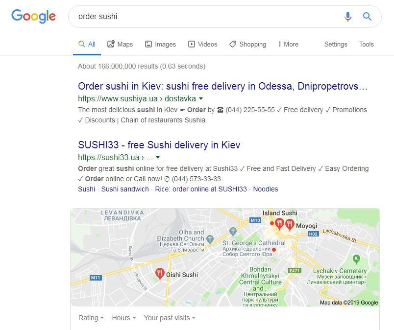 Geo-independent search query example