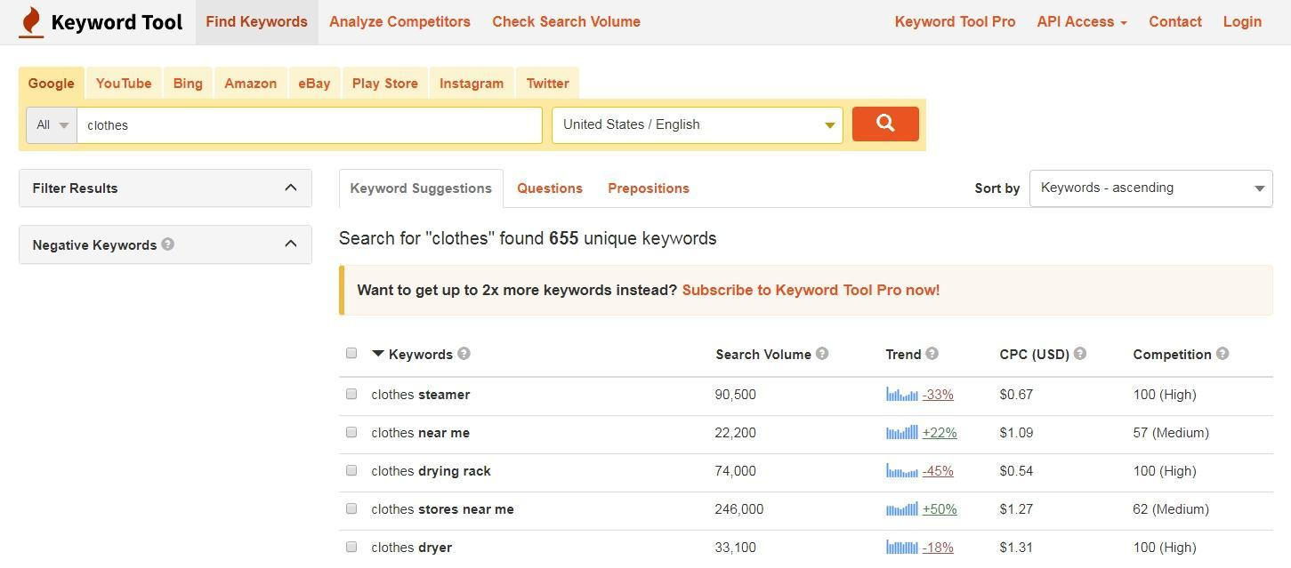 How to find new keywords using Keyword Tool