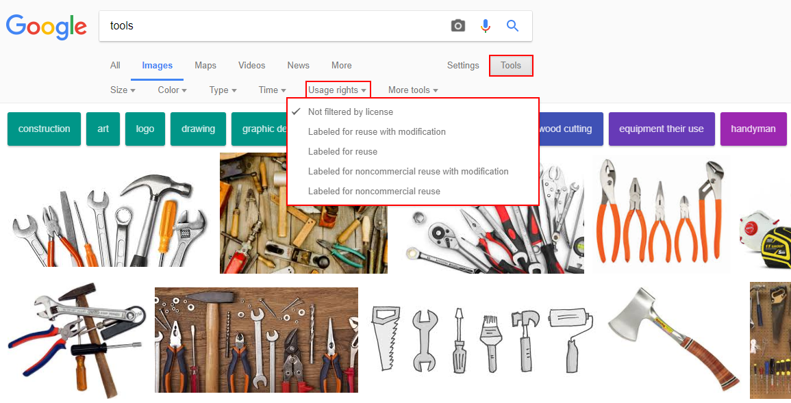 How to filter Google results