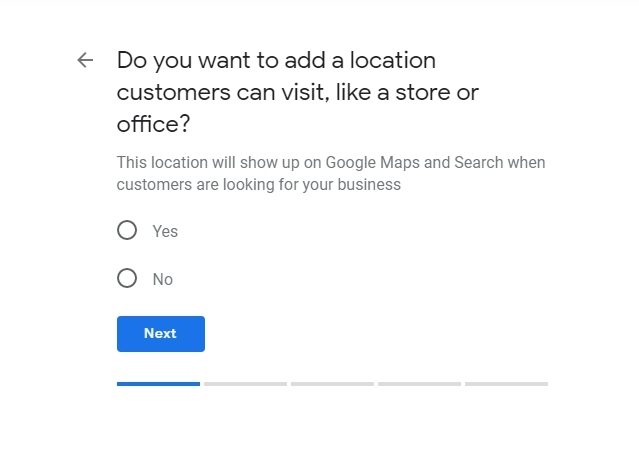 Google My Business location setting