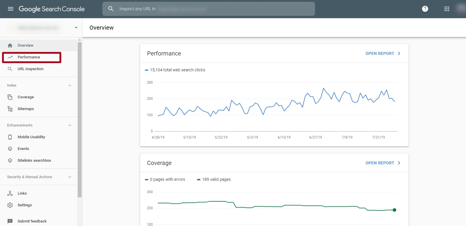 Search Traffic in the Google Search Console