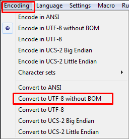 Convert document to UTF-8